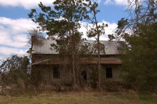 Abandoned Farmhouse Wheeler County GA Photograph Copyright Brian Brown Vanishing South Georgia USA 2016