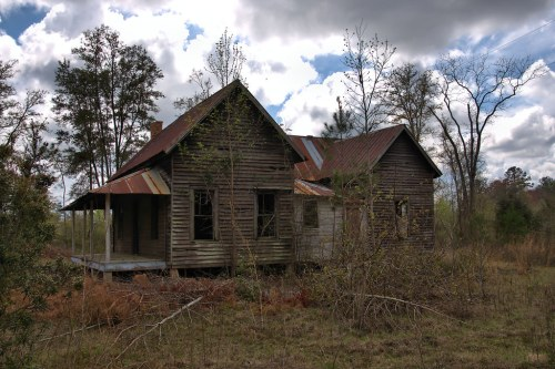 Abandoned Vernacular House Wheeler County GA Photograph Copyright Brian Brown Vanishing South Georgia USA 2016
