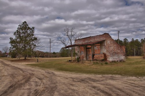 Erick GA Wheeler County Ghost Town General Store Ruins Dirt Road Photograph Copyright Brian Brown Vanishing South Georgia USA 2016