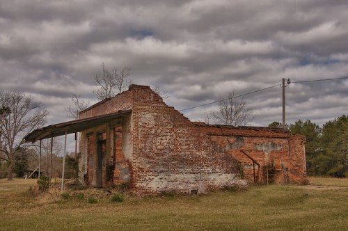 Erick GA Wheeler County Grocery Store Post Office Ruins Coca Cola Mural Photograph Copyright Brian Brown Vanishing South Georgia USA 2016