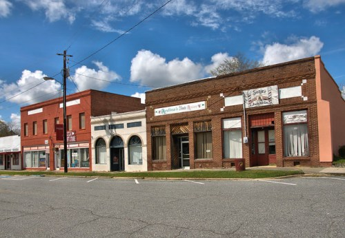 Historic Glenwood GA Commercial Storefronts Wheeler County Photograph Copyright Brian Brown Vanishing South Georgia USA 2016