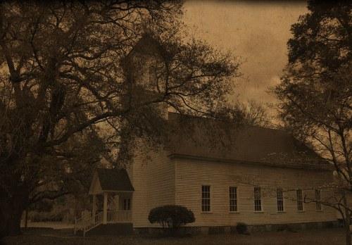 Historic Long Pond Baptist Church Montgomery County GA Photograph Copyright Brian Brown Vanishing South Georgia USA 2016