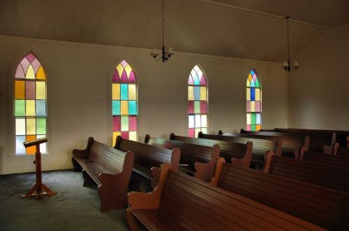 historic long pond methodist church interior photograph copyright brian brown vanishing south georgia usa 2010