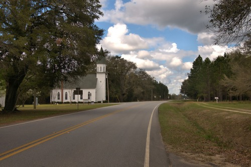 Historic Long Pond Methodist Church Montgomery County GA Photograph Copyright Brian Brown Vanishing South Georgia USA 2016