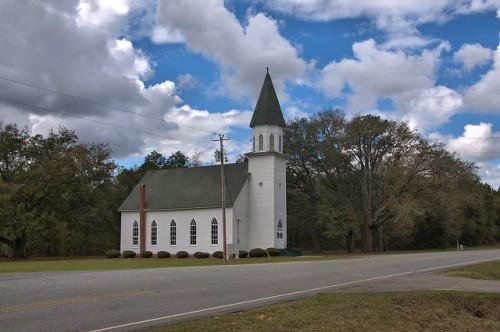 Historic Long Pond Methodist Church Photo Copyright Brian Brown Vanishing South Georgia USA 2016