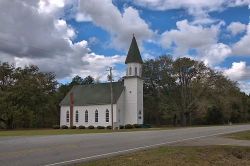 Historic Long Pond Methodist Church Photo Copyright Brian Brown Vanishing South Georgia USA 2016