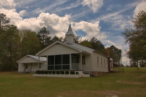 Hope Baptist Church Wheeler County GA Photograph Copyright Brian Brown Vanishing South Georgia USA 2016