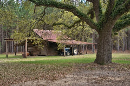 Log Barn Wheeler County GA Photograph Copyright Brian Brown Vanishing South Georgia USA 2016