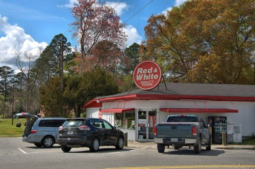 Red & White Grocery Store Glenwood GA Wheeler County Photograph Copyright Brian Brown Vanishing South Georgia USA 2016