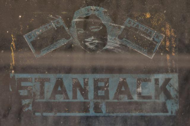 Stanback Window Sign Brownings Store Glenwood GA Photograph Copyright Brian Brown Vanishing South Georgia USA 2016