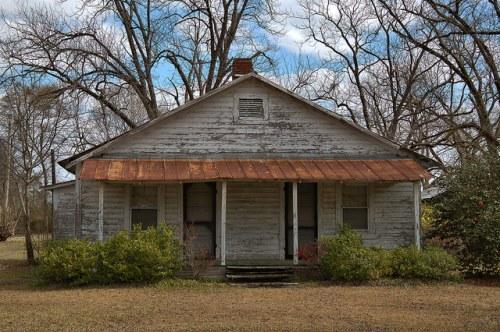 Vernacular Farmhouse Wheeler County GA Two Front Doors Photograph Copyright Brian Brown Vanishing South Georgia USA 2016