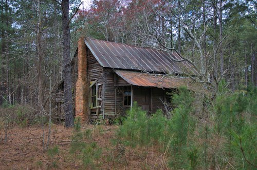 Wheeler County GA Abandoned Vernacular Farmhouse Photograph Copyright Brian Brown Vanishing South Georgia USA 2016