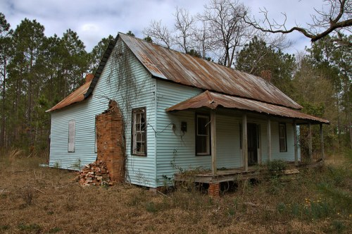 Wheeler County GA Vernacular Farmhouse Photograph Copyright Brian Brown Vanishing South Georgia USA 2016