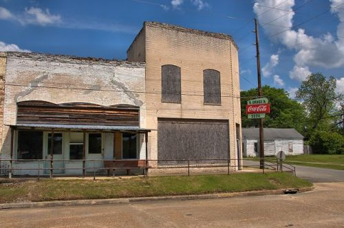 abbeville ga depot street storefronts photograph copyright brian brown vanishing south georgia usa 2016