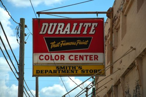 abbeville ga smiths department store duralite paint sign photograph copyright brian brown vaniishing south georgia usa 2016