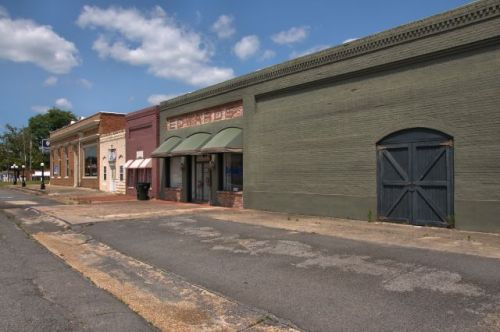 butler ga edwards building and storefronts photograph copyright brian brown vanishing south georgia usa 2016