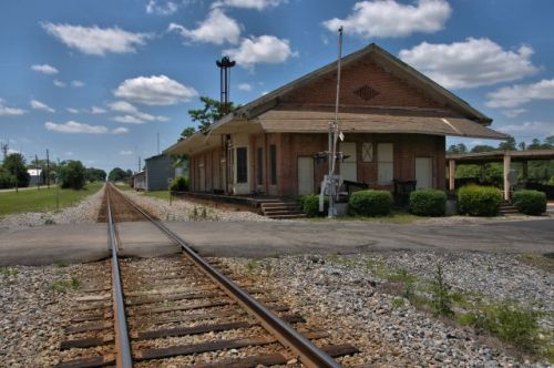 historic southwestern railroad depot butler ga photograph copyright brian brown vanishing south georgia usa 2016