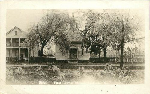 ludowici first baptist church 1922 real photo postcard public domain image accessed via ebay