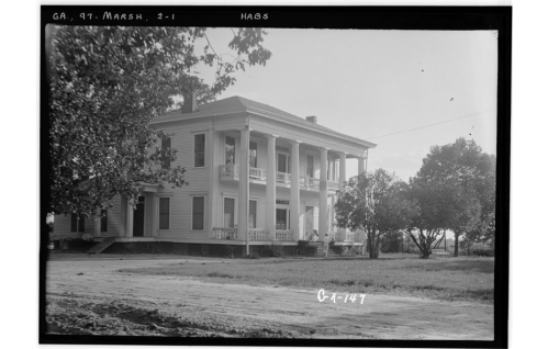 Slappey House, Marshallville, Macon County, GA Photos from Survey HABS GA-147 public domain courtesy library of congress