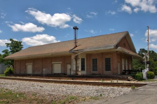 southwestern railroad depot butler ga photograph copyright brian brown vanishing south georgia usa 2016