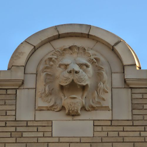 tift county courthouse lion medallion photograph copyright brian brown vanishing south georgia usa 2016