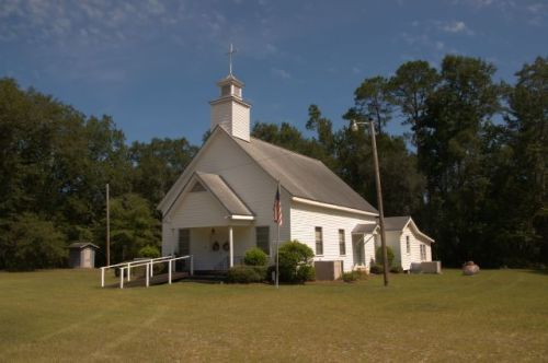 early county ga historic white pond free will baptist church photograph copyright brian brown vanishing south georgia usa 2016