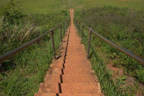 kolomoki mounds temple mound stairs photograph copyright brian brown vanishing south georgia usa 2016