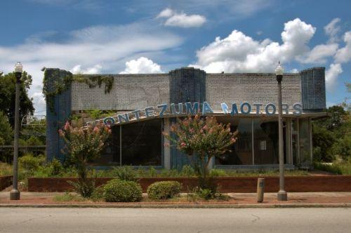 montezuma motors building photograph copyright brian brown vanishing south georgia usa 2016