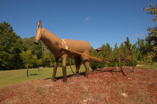cobbtown-ga-recycled-art-horse-photograph-copyright-brian-brown-vanishing-south-georgia-usa-2016