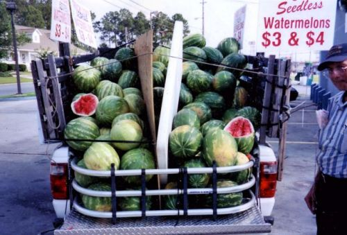 tifton ga watermelon seller 2006  photograph copyright brian brown vanishing south georgia usa 2016