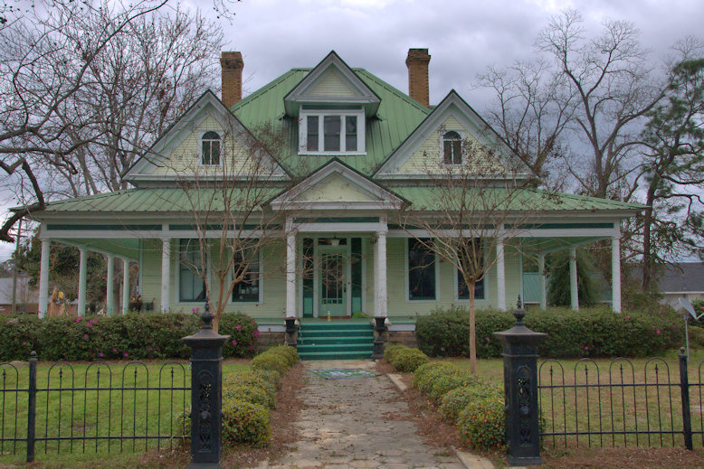 Colonial Revival House Adel Vanishing South Georgia Photographs
